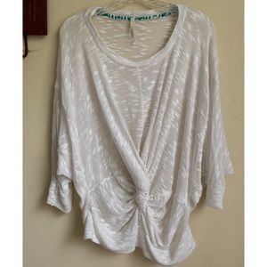 Anthro Left Coast :: knot front semi sheer top